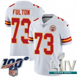 2020 Super Bowl LIV Youth Nike Kansas City Chiefs #73 Zach Fulton White Vapor Untouchable Limited Player NFL Jersey