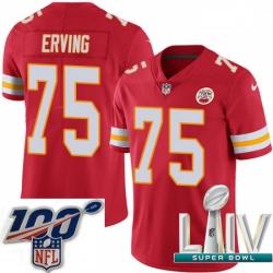 2020 Super Bowl LIV Youth Nike Kansas City Chiefs #75 Cameron Erving Red Team Color Vapor Untouchable Limited Player NFL Jersey