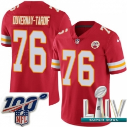 2020 Super Bowl LIV Youth Nike Kansas City Chiefs #76 Laurent Duvernay-Tardif Red Team Color Vapor Untouchable Limited Player NFL Jersey