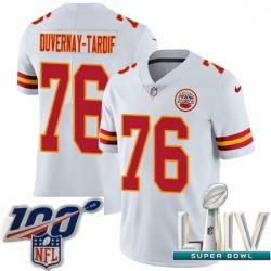 2020 Super Bowl LIV Youth Nike Kansas City Chiefs #76 Laurent Duvernay-Tardif White Vapor Untouchable Limited Player NFL Jersey