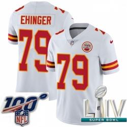 2020 Super Bowl LIV Youth Nike Kansas City Chiefs #79 Parker Ehinger White Vapor Untouchable Limited Player NFL Jersey