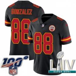 2020 Super Bowl LIV Youth Nike Kansas City Chiefs #88 Tony Gonzalez Limited Black Rush Vapor Untouchable NFL Jersey