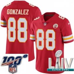 2020 Super Bowl LIV Youth Nike Kansas City Chiefs #88 Tony Gonzalez Red Team Color Vapor Untouchable Limited Player NFL Jersey