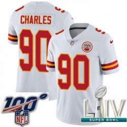 2020 Super Bowl LIV Youth Nike Kansas City Chiefs #90 Stefan Charles White Vapor Untouchable Limited Player NFL Jersey