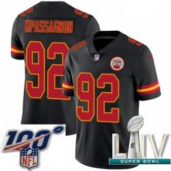 2020 Super Bowl LIV Youth Nike Kansas City Chiefs #92 Tanoh Kpassagnon Limited Black Rush Vapor Untouchable NFL Jersey