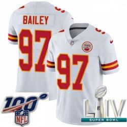 2020 Super Bowl LIV Youth Nike Kansas City Chiefs #97 Allen Bailey White Vapor Untouchable Limited Player NFL Jersey