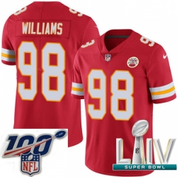 2020 Super Bowl LIV Youth Nike Kansas City Chiefs #98 Xavier Williams Red Team Color Vapor Untouchable Limited Player NFL Jersey