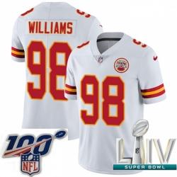 2020 Super Bowl LIV Youth Nike Kansas City Chiefs #98 Xavier Williams White Vapor Untouchable Limited Player NFL Jersey