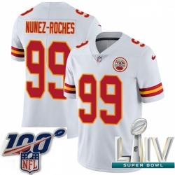 2020 Super Bowl LIV Youth Nike Kansas City Chiefs #99 Rakeem Nunez-Roches White Vapor Untouchable Limited Player NFL Jersey