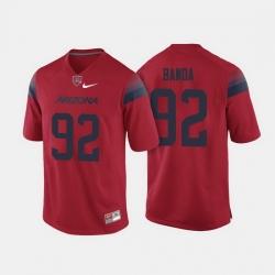 Arizona Wildcats Jack Banda College Football Red Jersey