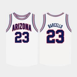 Men Arizona Wildcats Alex Barcello White College Basketball Jersey