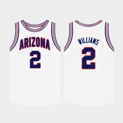 Men Arizona Wildcats Brandon Williams White College Basketball Jersey