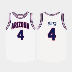 Men Arizona Wildcats Chase Jeter White College Basketball Jersey