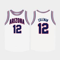 Men Arizona Wildcats Justin Coleman White College Basketball Jersey