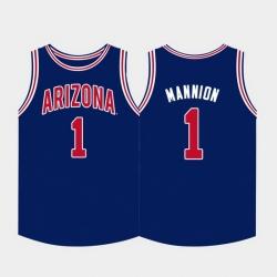 Men Arizona Wildcats Nico Mannion College Basketball Navy Jersey