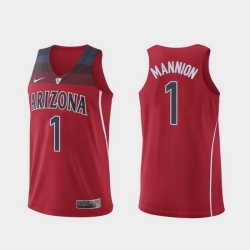 Men Arizona Wildcats Nico Mannion Hyper Elite Authentic Red College Basketball Jersey