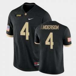 Men Army Black Knights Christian Anderson College Football Black Game Jersey