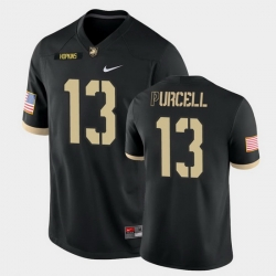 Men Army Black Knights Roman Purcell College Football Black Game Jersey