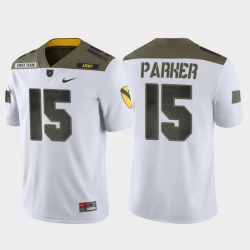 Men Army Black Knights Ryan Parker 15 White 1St Cavalry Division Limited Edition Jersey
