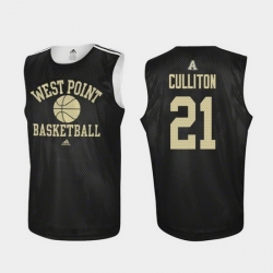Men Army Black Knights Will Culliton Black Practice College Basketball Jersey