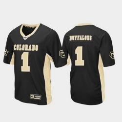 Men Colorado Buffaloes 1 Black Max Power Football Jersey