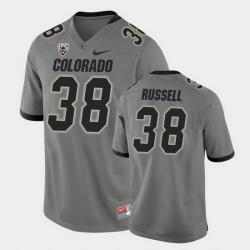 Men Colorado Buffaloes Brady Russell College Football Gray Alternate Game Jersey