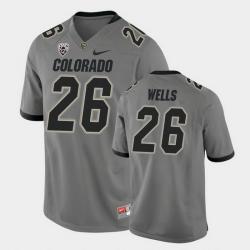 Men Colorado Buffaloes Carson Wells College Football Gray Alternate Game Jersey
