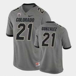 Men Colorado Buffaloes Christian Gonzalez College Football Gray Alternate Game Jersey