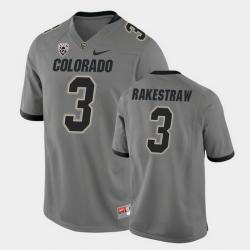 Men Colorado Buffaloes Derrion Rakestraw College Football Gray Alternate Game Jersey
