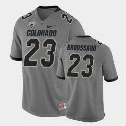Men Colorado Buffaloes Jarek Broussard College Football Gray Alternate Game Jersey