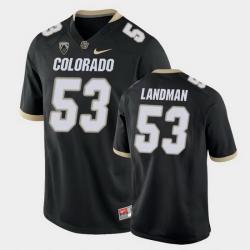 Men Colorado Buffaloes Nate Landman College Football Black Game Jersey