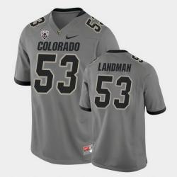 Men Colorado Buffaloes Nate Landman College Football Gray Alternate Game Jersey