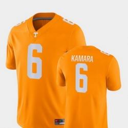 Men Tennessee Volunteers Alvin Kamara 6 Orange Game College Football Jersey