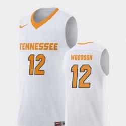 Men Tennessee Volunteers Brad Woodson White Replica College Basketball Jersey