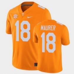 Men Tennessee Volunteers Brian Maurer College Football Orange Alumni Player Game Jersey