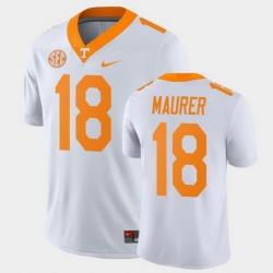 Men Tennessee Volunteers Brian Maurer Game White College Football Jersey