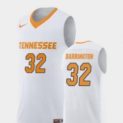 Men Tennessee Volunteers Chris Darrington White Replica College Basketball Jersey