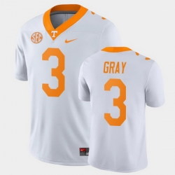 Men Tennessee Volunteers Eric Gray Game White College Football Jersey