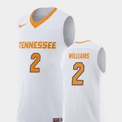 Men Tennessee Volunteers Grant Williams White Replica College Basketball Jersey