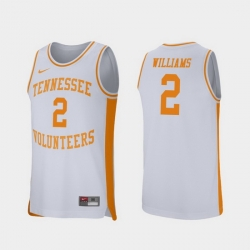 Men Tennessee Volunteers Grant Williams White Retro Performance College Basketball Jersey