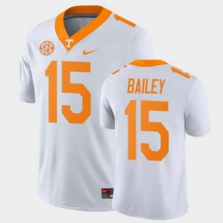 Men Tennessee Volunteers Harrison Bailey Game White College Football Jersey