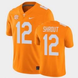 Men Tennessee Volunteers J.T. Shrout College Football Orange Alumni Player Game Jersey