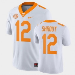 Men Tennessee Volunteers J.T. Shrout Game White College Football Jersey