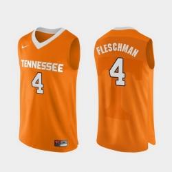 Men Tennessee Volunteers Jacob Fleschman Orange Authentic Performace College Basketball Jersey
