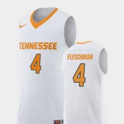 Men Tennessee Volunteers Jacob Fleschman White Replica College Basketball Jersey
