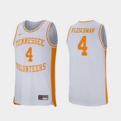 Men Tennessee Volunteers Jacob Fleschman White Retro Performance College Basketball Jersey