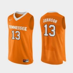 Men Tennessee Volunteers Jalen Johnson Orange Authentic Performace College Basketball Jersey