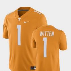 Men Tennessee Volunteers Jason Witten 1 Tennessee Orange Alumni Football Game Player Jersey