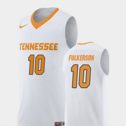 Men Tennessee Volunteers John Fulkerson White Replica College Basketball Jersey