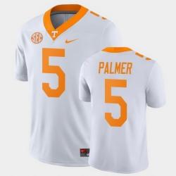 Men Tennessee Volunteers Josh Palmer Game White College Football Jersey